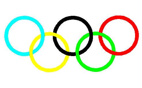 オリンピック、五輪の輪の色の覚...