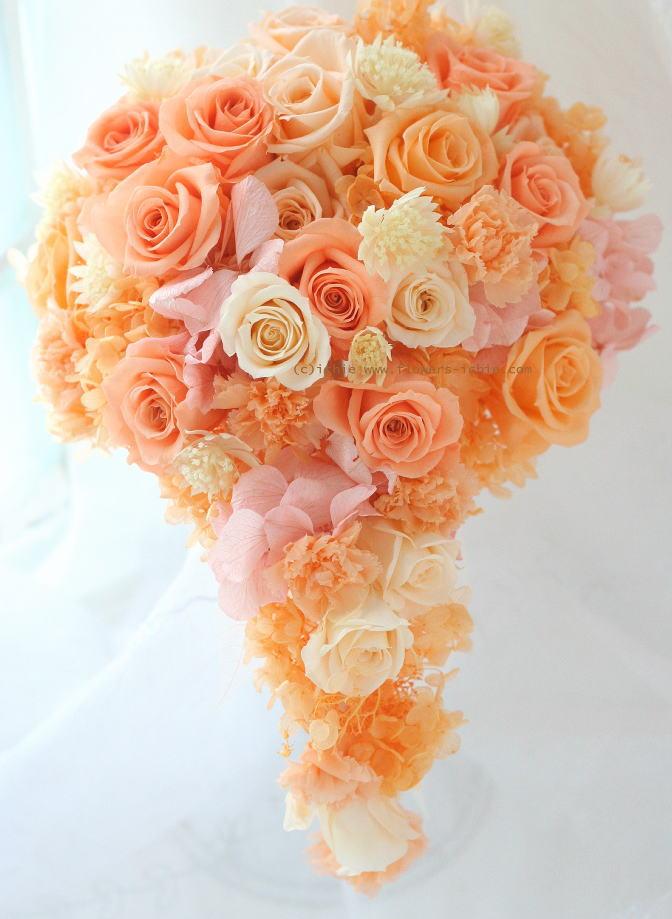 ブーケ プリザ オレンジの雫_a0042928_0553354.jpg