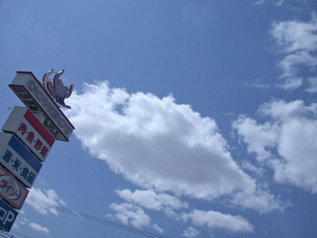 滝川で見た青い空と白い雲_e0100772_2235636.jpg