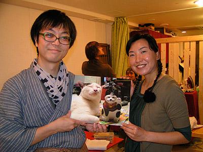 うちの猫らと「ち」の変な作品展無事終了!_a0028451_3251994.jpg