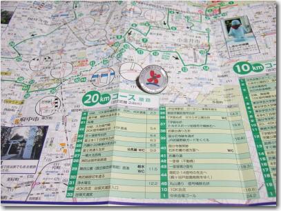 5月4日コースマップとバッチ