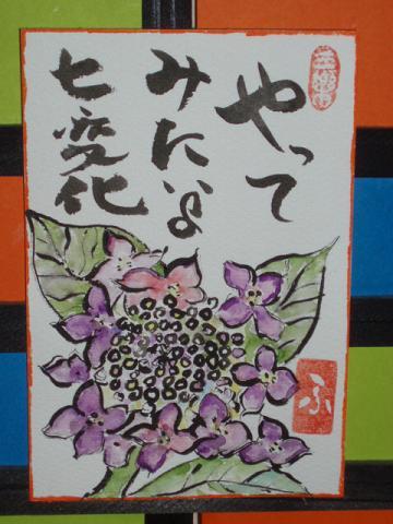 絵 手 紙 (ガク紫陽花) 81_b0104092_1646117.jpg