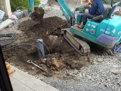 上下水道工事始まる_c0111229_16293856.jpg