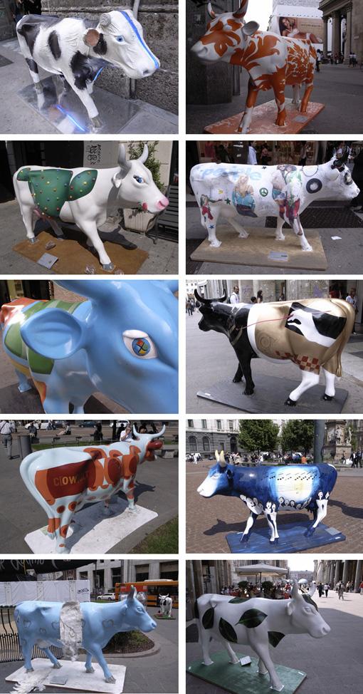 ミラノでカウパレードに遭遇。_a0077842_14251227.jpg