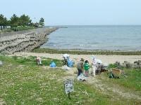里海自然海岸の清掃参加&草刈り・ホダギ調達・・・代替活動日_c0108460_2193241.jpg