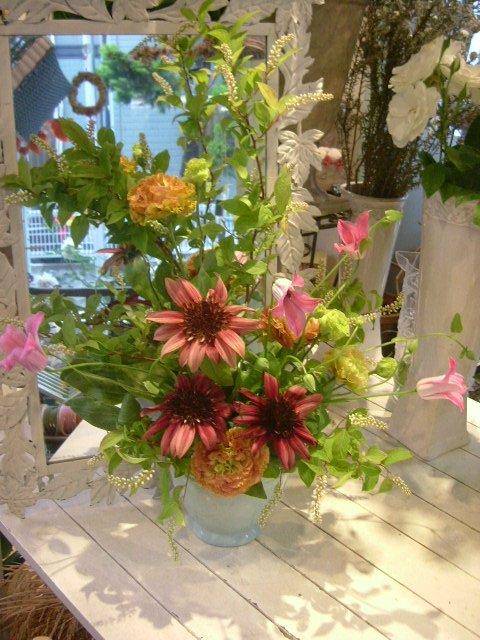 オークリーフ花の教室(小井土さんの作品)_f0049672_1364038.jpg