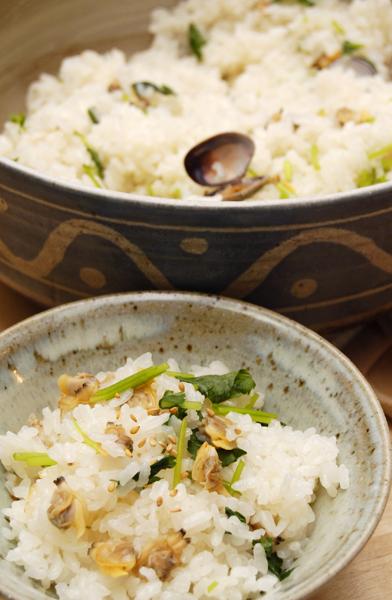 土鍋で、あさりの炊き込みご飯_a0003650_20215598.jpg
