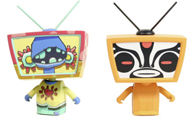 TV Heads by Cameron Tiede (L) and Toby HK (R)_e0118156_1254737.jpg