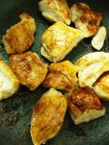鶏胸肉の照り焼き丼 ポーチドエッグのっけ_c0119259_21253569.jpg