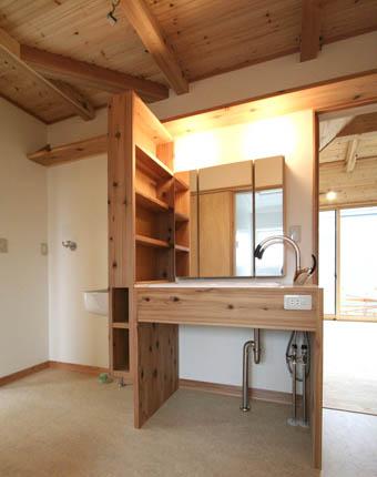 飯能の家22:完成:洗面所周りのユニバーサル_e0054299_17171662.jpg