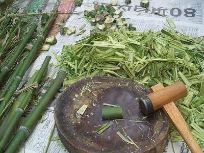 庭の黒竹で・・・。_e0054438_18383661.jpg