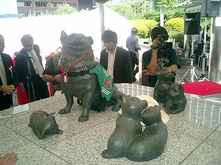 名犬チロリ像完成!_d0050503_818992.jpg