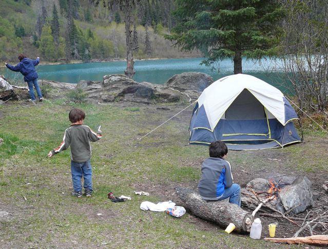 バックパッキングその3 〜湖でのキャンプ〜_a0088116_11581811.jpg