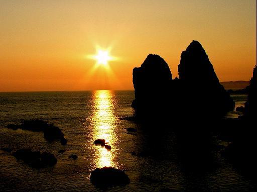 日本海の夕照_d0123528_14323471.jpg
