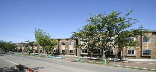 国際教養大学宿舎:外壁工事 2_e0054299_03443100.jpg