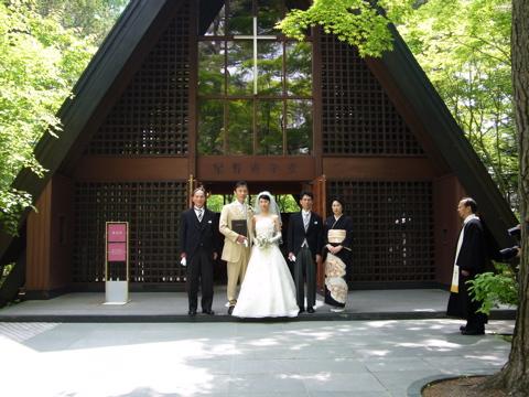 軽井沢高原教会で挙式_e0058443_14473816.jpg