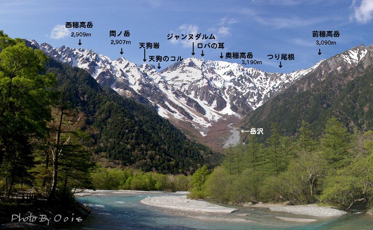 カレンダー 2013 10月 カレンダー : 河童橋から見る穂高連峰の山々 ...
