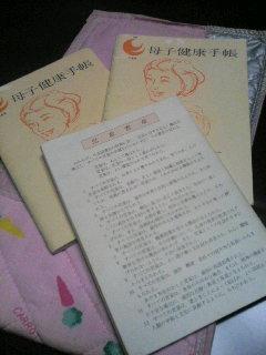 久々の母子手帳_f0071456_0521453.jpg