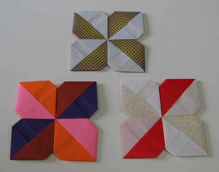 すべての折り紙 折り紙で作るコースター : 折り紙でコースターと菓子器を ...