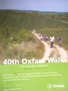 ケンブリッジを歩くチャリティイベント「Oxfam Walk」_e0030586_18101421.jpg