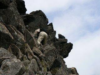 北横岳から三ツ岳は険しかった_f0019247_23523282.jpg