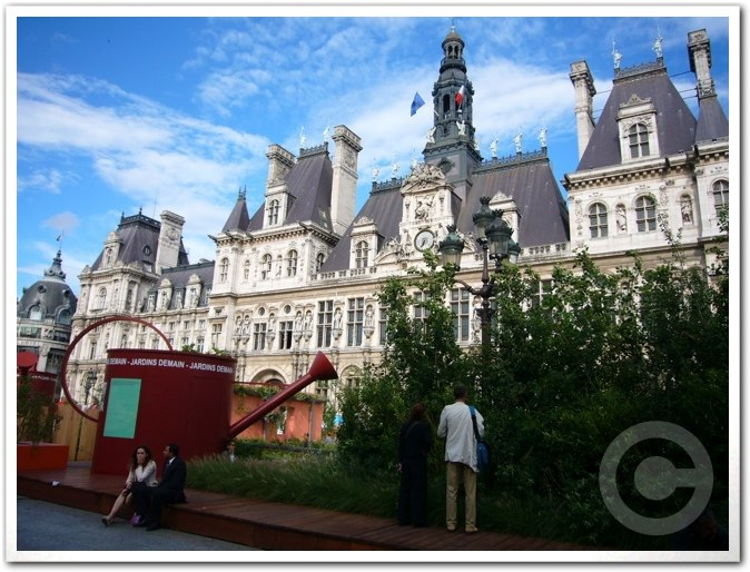 ■パリ市庁舎前のガーデン(JARDINS)_a0008105_1954961.jpg