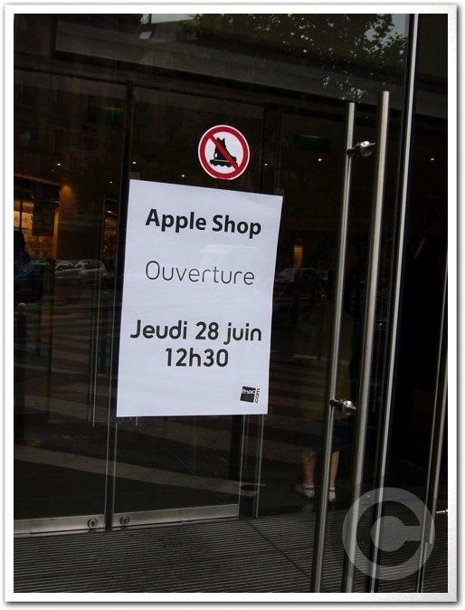 ■Apple Shop Open(パリ)_a0008105_7113867.jpg