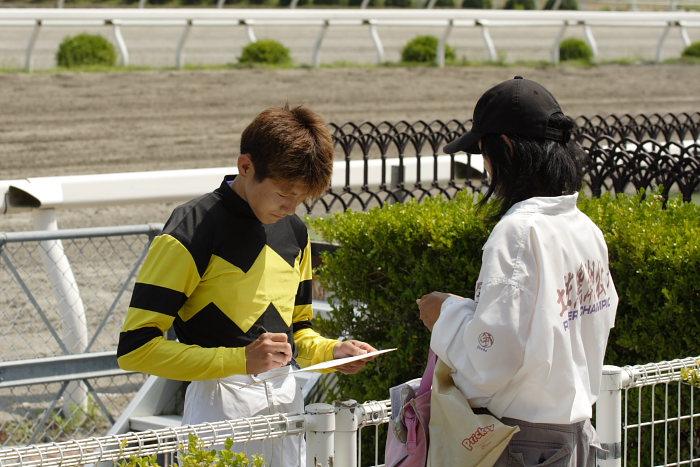 金沢競馬の田知弘久(たちひろひさ)騎手、登場!!_a0077663_1834579.jpg