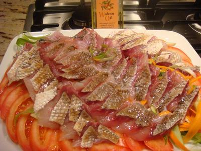 鯛で刺身を2色、2食・・・_d0100880_12771.jpg