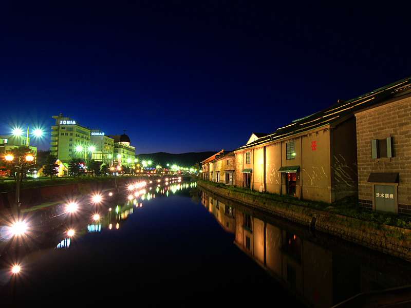 小樽運河の夜景_a0101656_110219.jpg