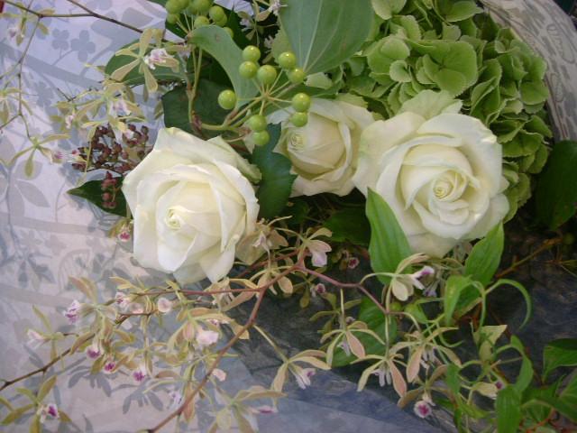 オークリーフ(ほのかに香るの蘭の花・エンシクリアの花束)_f0049672_164364.jpg