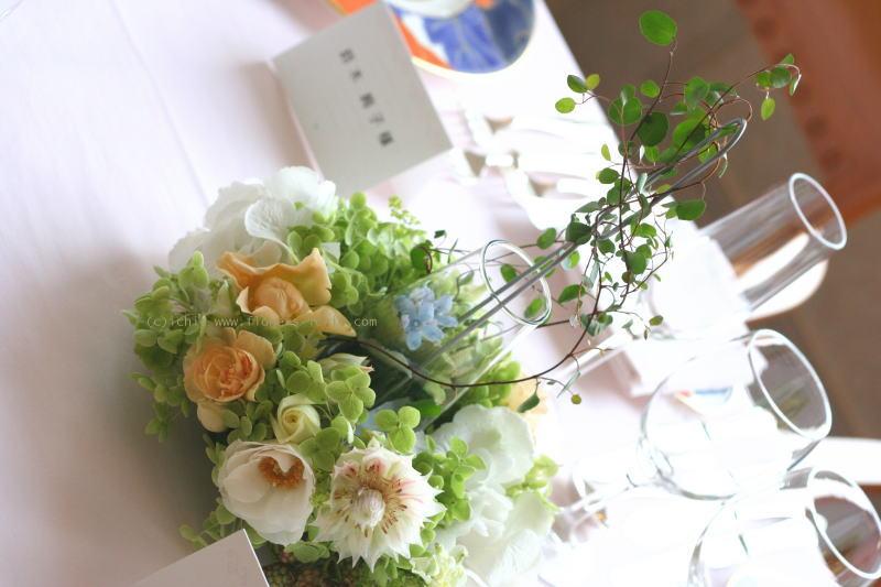 シェ松尾天王洲倶楽部様の装花 七夕とブルースター_a0042928_223884.jpg