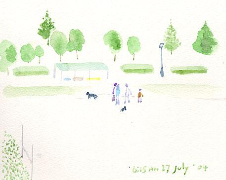 公園の朝の始まりです。_d0115092_14194835.jpg