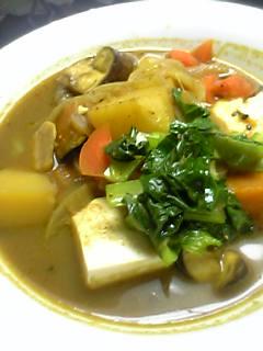 野菜と豆腐の豪華雁爺カレ-_a0053923_22452073.jpg