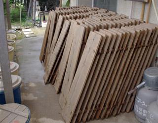 桟板、カメ板 洗い_c0081499_21404696.jpg