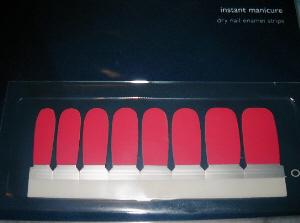 マッチ棒の頭のような形をした、シール状のものが8つついたシート。色もマッチ棒のようですね。