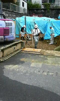 掘削が終わりました。_f0052181_21113269.jpg