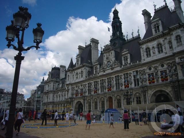 ■パリ市庁舎前で(パリ)_a0008105_7255023.jpg