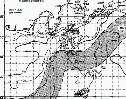 黒潮が 伊豆諸島の西に入ってきたどー!!     [カジキ・マグロトローリング]_f0009039_1065461.jpg