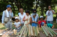 2007自然工作[竹風鈴をつくろう!]  in  うみべの森_c0108460_15512620.jpg