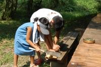 2007自然工作[竹風鈴をつくろう!]  in  うみべの森_c0108460_15583496.jpg