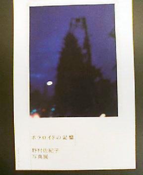 野村佐紀子 写真展「ポラロイドの記憶」_f0023676_1115144.jpg