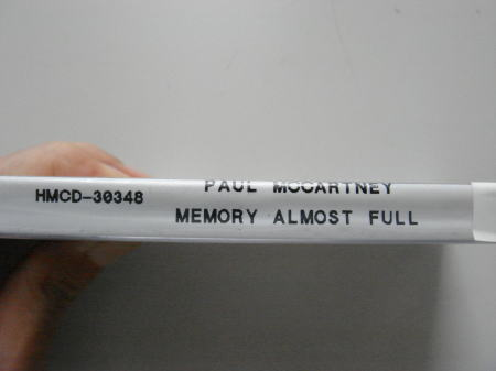 2007-08-04 『Paul McCartne/Memory Almost Full』_e0021965_11204547.jpg
