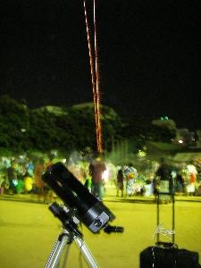 小学校の夏祭り観望会_a0095470_23232842.jpg