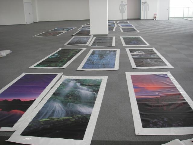 函館フェリーターミナル写真展 開催準備_f0050534_0204966.jpg