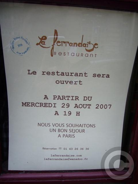 ■街角のビストロLa Ferrandaise(パリ)_a0014299_7442922.jpg