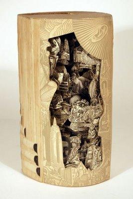 ★古書のアート~リサイクル・アートの傑作集(゚ロ゚;)ミテビックリ!_a0028694_11103326.jpg
