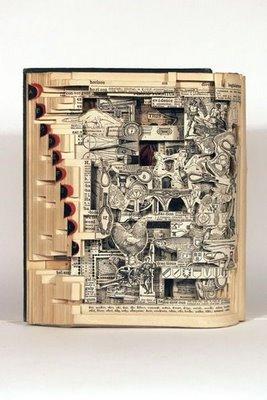 ★古書のアート~リサイクル・アートの傑作集(゚ロ゚;)ミテビックリ!_a0028694_1113515.jpg