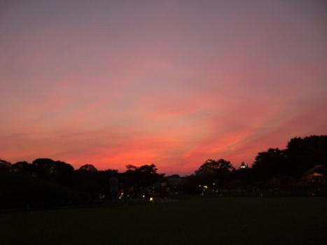 夕焼けと・・・月と_c0126344_1024466.jpg