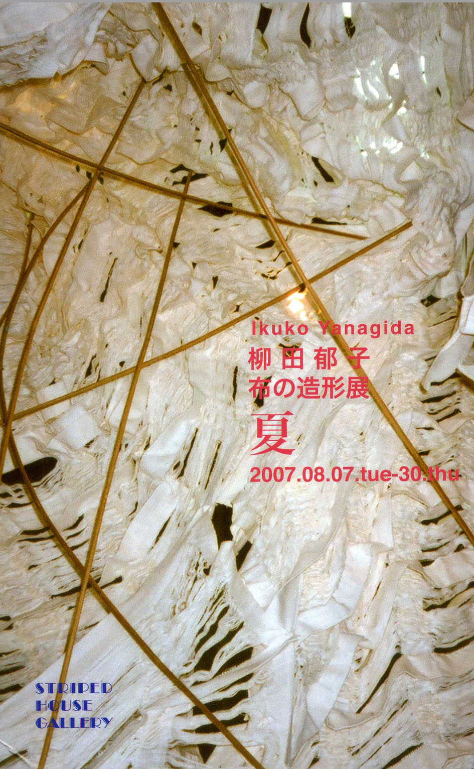 柳田郁子・布の造形展_c0129404_9165897.jpg